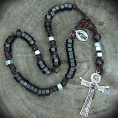 Custom paracord Rosary from www.cordbands.com