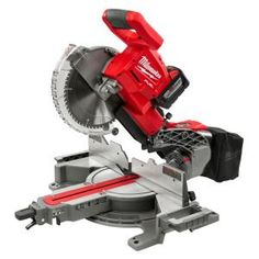 Woodworking Circular Saw Milwaukee FUEL Lithium-Ion Brushless Cordless 10 in. Dual Bevel Sliding Compound Miter Saw Kit Battery - Sliding Mitre Saw, Sliding Compound Miter Saw, Compound Mitre Saw, Milwaukee Tools, Milwaukee M18, Kapp- Und Gehrungssäge, Miter Saw Reviews, Drill, Shopping