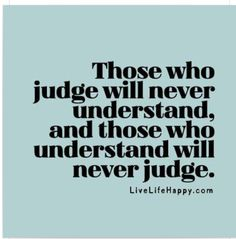 On judging others