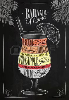 Photo about Mai tai cocktail in vintage style stylized drawing with chalk on blackboard. Illustration of creative, alcohol, liqueur - 50229668 Bar Drinks, Cocktail Drinks, Beverages, Mai Tai, Deco Restaurant, Alcoholic Cocktails, Alcohol Drink Recipes, Mama Recipe, Milk Shakes