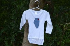 Chicago Illinois Love Onesie by sewhappyone on Etsy https://www.etsy.com/listing/160815240/chicago-illinois-love-onesie