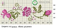 Ideas embroidery patterns cross stitch flowers bloemen for 2019 Cross Stitch Rose, Cross Stitch Borders, Cross Stitch Flowers, Cross Stitch Charts, Cross Stitch Designs, Cross Stitching, Cross Stitch Embroidery, Embroidery Patterns, Cross Stitch Patterns