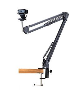 Desk Clamp Mount Suspension Boom Scissor Arm Tripod Stand Holder for Logitech Webcam C922 C930e C930 C920 C615