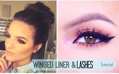 HOW TO: WINGED EYELINER & FALSE LASHES - easy step by step tutorial using long lasting products #caseyholmes #falselashes #makeuptutorial