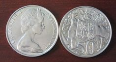 1966 Australian 50 Cent Coin by AntiquaCorner on Etsy