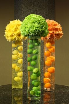 Love this idea, now if I could just sell someone on the idea! Citrus Surprise, Crossroads Florist