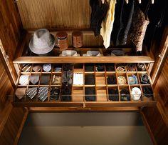Luxury wardrobe tie drawer