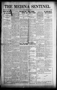 The Medina sentinel. (Medina, Ohio) 1888-1961, April 18, 1919, Image 1, brought to you by Ohio Historical Society, Columbus, OH, and the National Digital Newspaper Program.