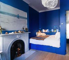 jan eleni interiors via Remodelista Blue Rooms, Blue Bedroom, Dream Bedroom, Bedroom Decor, Alcove Bed, Bed Nook, Interior Design Pictures, Interior Inspiration, Built In Bed