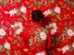 Cecilia Paredes Disappears Into Wallpaper