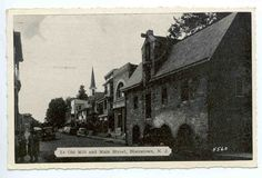 The old mill and Main Street in an old photograph