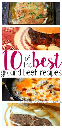 The LIST is FINALLY Here! All these recipes are winners! The BEST Ground Beef Recipes!