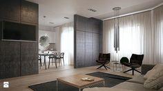 DEZIGN PROJECT MAŁEGO MIESZKANIA - Salon, styl minimalistyczny - zdjęcie od Yevhen Zahorodnii