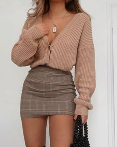 Trendy Fall Outfits, Winter Fashion Outfits, Retro Outfits, Girly Outfits, Cute Casual Outfits, Look Fashion, Stylish Outfits, Fashion Women, Fresh Outfits