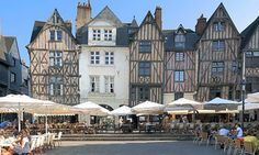 Place Plumereau. City of Tours in the Loire valley. France