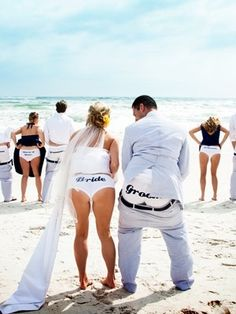 This is awesome!!!! Wish I would have done it!!!!  Funny wedding underwear #funny #wedding