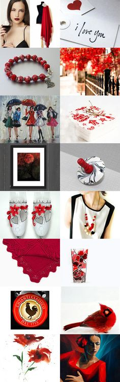 I Love You In Red and Black by Linda Karen on Etsy--Pinned+with+TreasuryPin.com