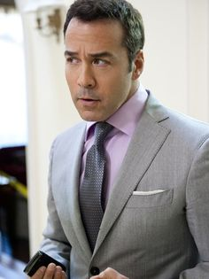 Pale lavender shirt looks great with this light grey suit.  ***outfit color ideas
