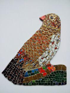 Mosaic of bird by Helen Disley