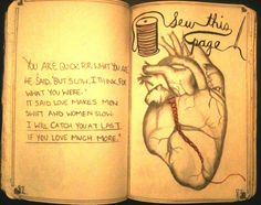 Wreck This Journal - Sew this page