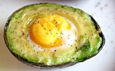 Baked Egg in Avocado | 21 Three-Ingredient Snacks That Are Actually Healthy