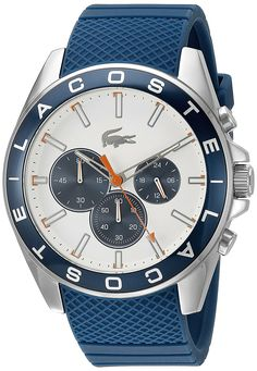 Lacoste Men's 2010854 Westport Analog Display Japanese Quartz Blue Watch * Check this awesome product by going to the link at the image.
