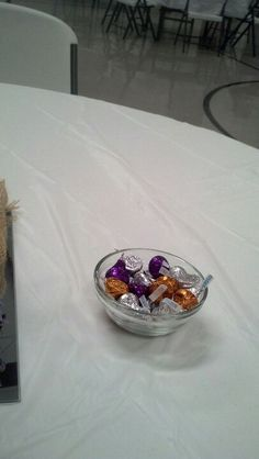 Candy dish with Hershey's kisses