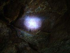 Rock Paintings Inside Dark Caves