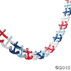This paper garland will make any nautical celebration look nice! Paper. 4 3/4 x 108 © OTC