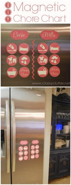 DIY Magnetic Chore Chart - So easy and cute!   www.classyclutter.net