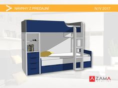 Poschodová posteľ na mieru s množstvom úložného priestoru v medrej farbe Custom Furniture, Loft, Bed, Home Decor, Colors, Bespoke Furniture, Decoration Home, Stream Bed, Room Decor