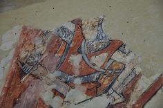 South Newington St Peter Ad Vincula church wall paintings on north wall martyrdom of St Thomas a Becket c1330 -18-30