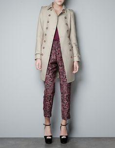 DOUBLE FABRIC LAYER TRENCH COAT - Coats - Woman - ZARA