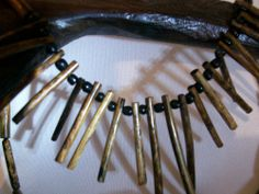 Black Coral Necklace Peeks Hand Carved Made in Caribbean  Mexico