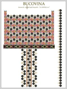 IA AIDOMA 11 - Bucovina, ROMANIA Folk Embroidery, Embroidery Patterns, Cross Stitch Patterns, Hama Beads, Beading Patterns, Pixel Art, Projects To Try, Textiles, Graphic Design