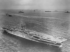 US Fleet ships at Majuro Atoll March 1944 with the USS Enterprise Us Navy Aircraft, Navy Aircraft Carrier, Uss Enterprise Cv 6, American Aircraft Carriers, Essex Class, Amphibious Vehicle, History Online, Navy Military, Flight Deck