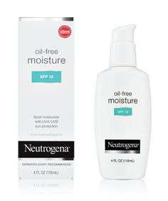 This oil free non-comedogenic moisturizer also has SPF 15 to protect your from the sun! Try Neutrogena Oil Free Moisture SPF 15, $9.99, www.neutrogena.com
