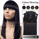 20 Inches 7pcs Clip-in Human Hair Extensions Wavy (#2 Darkest Brown)