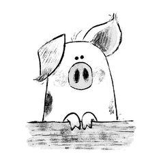 Time for bed. Oink. #pig #sketch #illustration #kidlitart