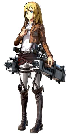View an image titled 'Krista Lenz Art' in our Attack on Titan: Wings of Freedom art gallery featuring official character designs, concept art, and promo pictures. Mikasa, Armin, Attack On Titan Krista, Attack On Titan Anime, Christa Renz, Freedom Art, Aot Characters, Fictional Characters, Historia Reiss