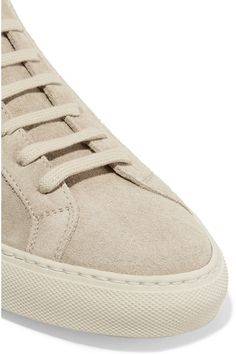 Rubber sole measures approximately 25mm/ 1 inch Beige suede Lace-up front Made…