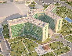 University Architecture, Plans Architecture, Architecture Concept Drawings, Hotel Architecture, Architecture Design, Hospital Plans, General Hospital, Hotel Floor Plan, Design 3d