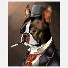 Boston Terrier Print, $16, now featured on Fab.