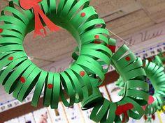Construction paper wreath