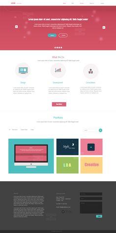 LDA - Web Layout by ~DeemahDesign on deviantART #webdesign