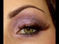Dramatic lashes on Purple Glitter eyes....Christmas Party look Pt.2!