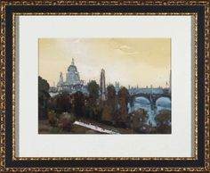Accessories, City Watercolor Framed Art I, Accessories | Havertys Furniture