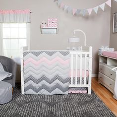 Trend Lab Cotton Candy Chevron 3 Piece Crib Bedding Set | BabiesRUs