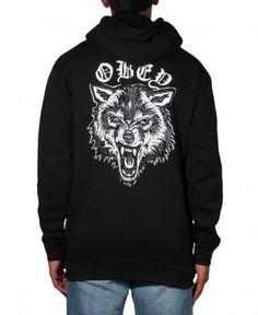 Obey - Wolf Posse Zip-Up Hoodie -  58 7ccbc9410