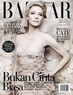 Cate Blanchett - Harper's Bazaar Magazine Cover [Indonesia] (February 2014)